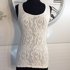 Body Central Lace Tank Juniors L